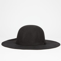 Felt Womens Floppy Hat Black One Size For Women 25705110001