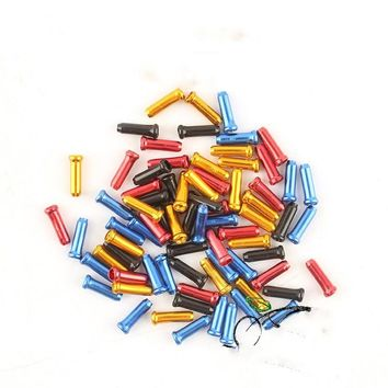 10 PCS Hot Bicycles Derailleur Shift Cable End Caps Inner Wire Ferrules Aluminum Alloy Cycling Bike Brake Cable Tips Crimps #