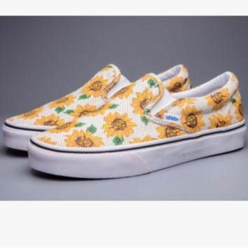Vans' Casual Shoes yellow sunflower low tops