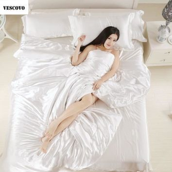 Vescovo Natural/mulberry silk bedding sets bed linen bedclothes bed sheet king/queen/twin size