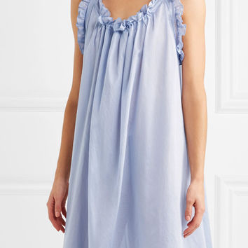 Three Graces London - Nightingale ruffled cotton nightdress