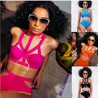 Women Sexy Bikini Spring Summer Solid Swimsuits Push Up Like Swimwear Fashion Bathing Suit PIus Size Beach Wear = 4641911684