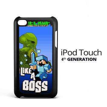 Minecraft Like a Boss X2143 iPod Touch 4 Case