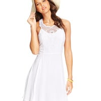 XOXO Juniors' Crochet Accent Fit & Flare Dress