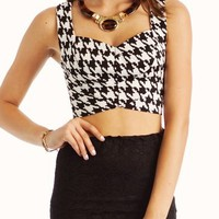 houndstooth-crop-top IVORY TAUPE - GoJane.com