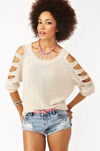 Sliced Sleeve Knit