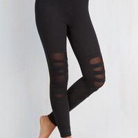 80s Skinny Bands on the Run Leggings by ModCloth