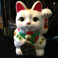 Chuncky  Maneki Neko Lucky Cat by TriquetraBoutique on Etsy