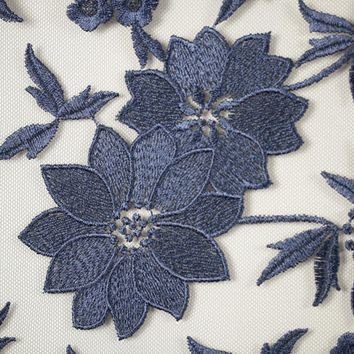 Embroidered Lace Mesh Floral Flower Power Lace Fabric