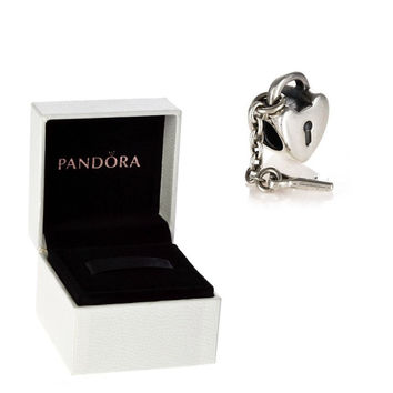 Authentic Pandora S925 Sterling Silver Key To My Heart Charm Bead w/ Box Free Shipping Worldwide Gift Bridal Weddings Brides Jewelry