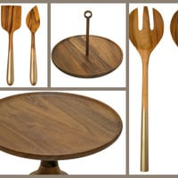 Ombre Gold & Wood Serving Fair Trade Gift Set