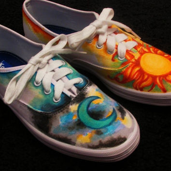 Day and Night- Custom Vans Shoes