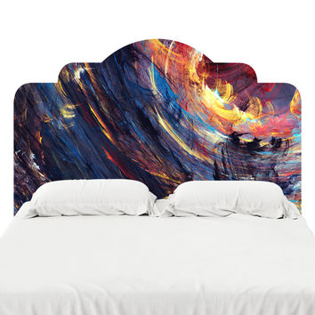 Fractal Desert Headboard Decal