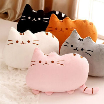 Cute Stuffed Cats Shape Pillow Cushion