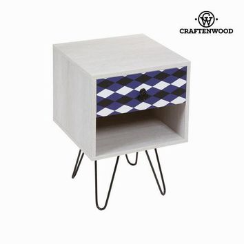 1 drawer side table by Craften Wood