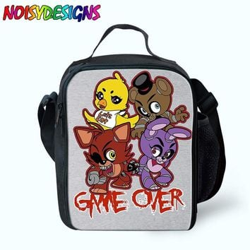 Lunch Bag For Kids School  at  Lunch Box Golden Freddy Print Insulated For Girls Boys Children