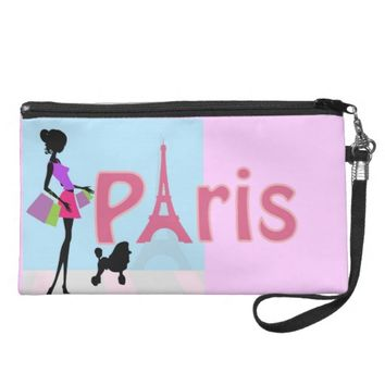 Shopping in Paris Bag Wristlet Purses