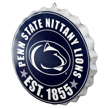 Penn State Nittany Lions Man Cave Bottlecap Wall Sign