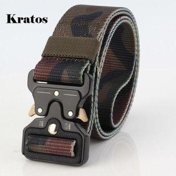 LMFLD1 Outdoor camouflage Tactical Belt Men Wear-resisting Non-slip Breathable Military Quick Dry Nylon Webbing Heavy Duty Belt 3.8 CM