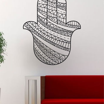 Hamsa Hand Version 14 Decal Sticker Wall Vinyl Art Home Decor Decoration Room Mandala Yoga Om