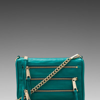 Rebecca Minkoff Mini 5 Zip Clutch in Azure from REVOLVEclothing.com