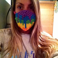 Melting Rainbow Kandi Rave Mask