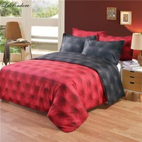 Cool Hot 3D Buttons Pattern Bedding Sets AB Side Black Red Tencel Cotton Duvet Cover Set US Twin Queen King Size Bed Linens On SaleAT_93_12
