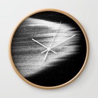 ocean in black and white  Wall Clock by Bunny Noir
