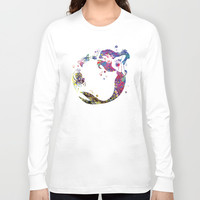 Mermaid Ariel  Long Sleeve T-shirt by Bitter Moon