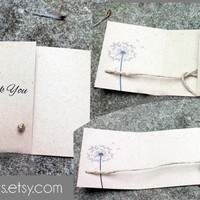 Tying the Knot thank you card set of 25, handmade by me Kraft thank you card, Rustic thank you cards, tie the knot thank you card set of 25