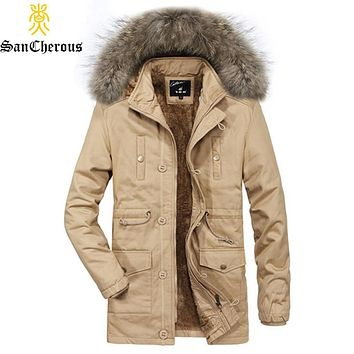 2019 New Winter Black Thick Casual Man Jacket Hooded Parkas Male Coat Plus Size L-3XL