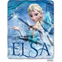 "Walmart: Disney Frozen Elsa Palace 40"" x 50"" Silk-Touch Throw"