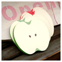WM Apple slice sticky memo notes - red, green