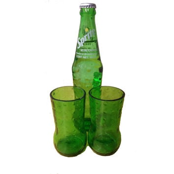 Recycled Mexico Sprite Bottles - Drinking Glasses