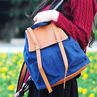 Stylish On Sale College Comfort Back To School Hot Deal Casual Summer Canvas Korean Backpack [8403309639]