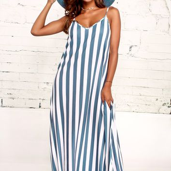 Loose Fitting Striped Long Dress