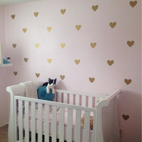 Heart Wall Sticker Removable  60 pcs 5 colors