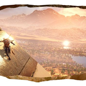 Assassin's Creed Origins Pyramid 3D Wall Art Ecolight Poster Wall Mural