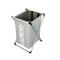 SHUSHI X frame foldable laundry basket  Thick oxford waterproof Bathroom dirty clothes basket high capacity Laundry hampers