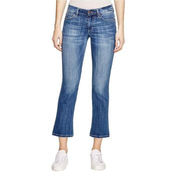 Joe's Jeans Womens The Olivia Cropped Denim Flare Jeans