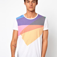 ASOS T-Shirt With Multi Colour Print