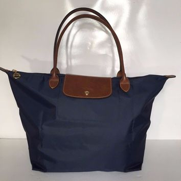 Longchamp Tote-Large Le Pliage Navy shoulder bag