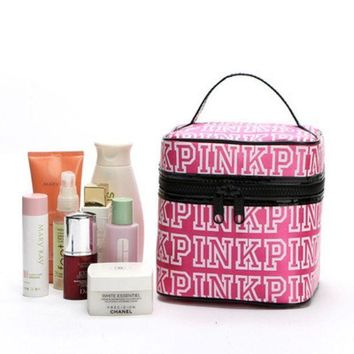 PINK Victoria's Secret Portable Cosmetic Handbag Case Cosmetic Case