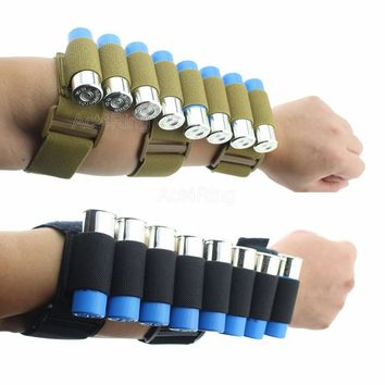 Tactical Hunting 8 Rounds Ammo Shotgun Shell Holder Carrier Shooters Forearm Sleeve Mag Pouch