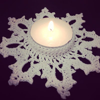 Snowflake Tealight Candle Holder - Christmas Decor - Winter Decor - Festive Decor