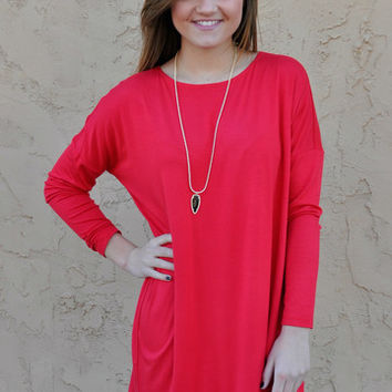TRIBAL: We Found Love Tunic - Red
