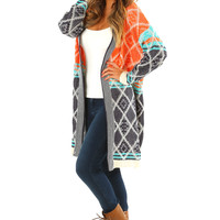 Lost In An Image Cardigan: Multi