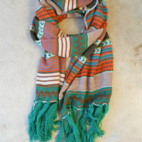Knitted Navajo Fringe Scarf [3415] - $32.00 : Vintage Inspired Clothing & Affordable Dresses, deloom | Modern. Vintage. Crafted.