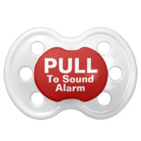 Pull To Sound Alarm Funny Baby Pacifiers