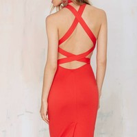 Rebel Yell Criss Cross Bodycon Dress